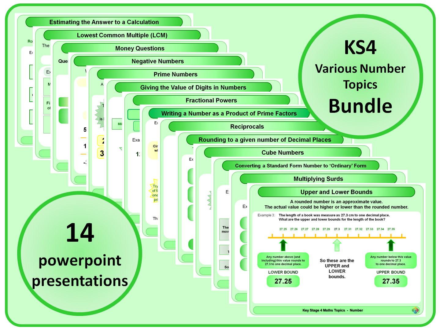 KS4 Various Number Topics BUNDLE