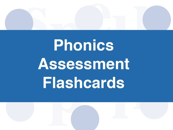Phonics Assessment Flashcards: Foundation Stage