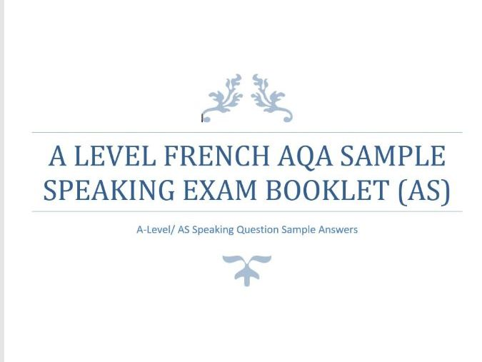 AS Level French Speaking Q