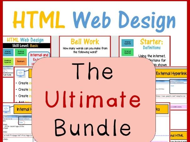 Web Design in HTML & CSS – The Ultimate Lesson Plans Bundle
