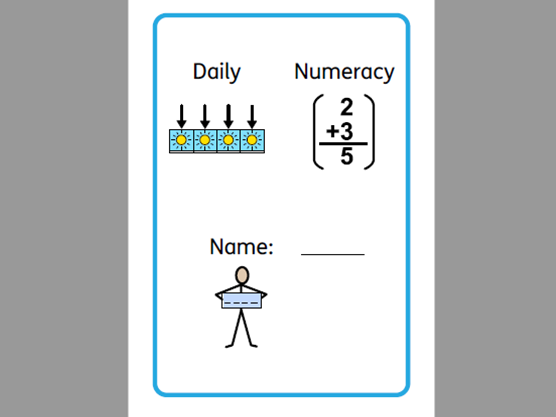 Home learning numeracy booklet