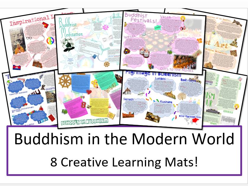 Buddhism in the Modern World: Creative Learning Mat Bundle