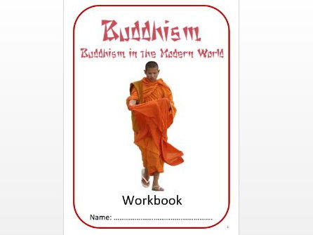 Buddhism: Buddhism in the Modern World Workbook: Mid Ability