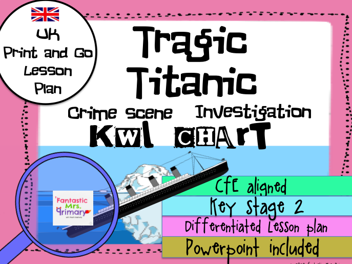 Tragic Titanic : KWL Chart Lesson Plan ( UK Version)