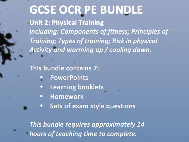 OCR GCSE PE 9-1 2016 Unit 2 Physical Training