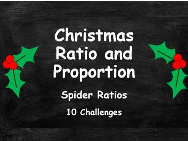 Christmas Ratio and Proportion. Spider Ratios. FULL SET