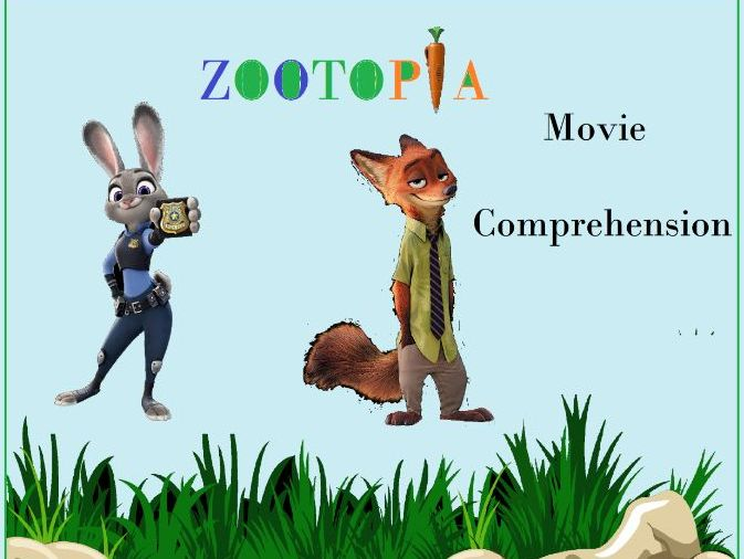 Movie Zootpia Comprehension Worksheet with Answer Key