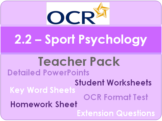 New OCR GCSE PE - 2.2 Complete Teacher Pack (Sports Psychology)