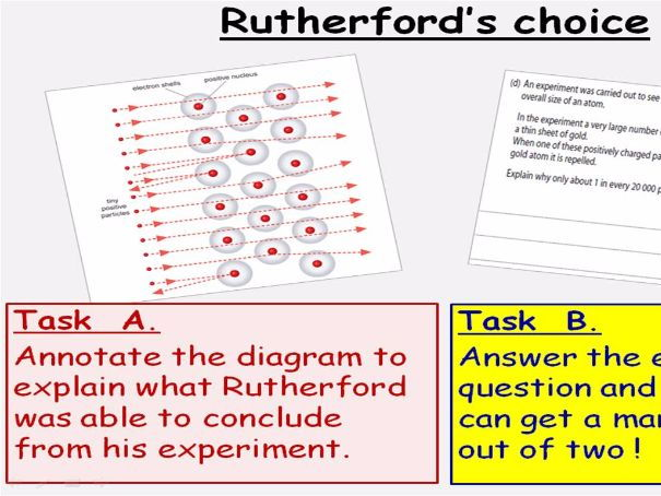 GCSE Chemistry Atomic Number Lesson Powerpoint (Edexcel 9-1 SC3b CC3b) Rutherford Dalton