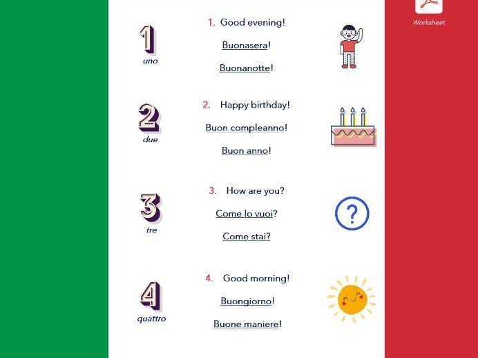 I Saluti - Italian Greetings