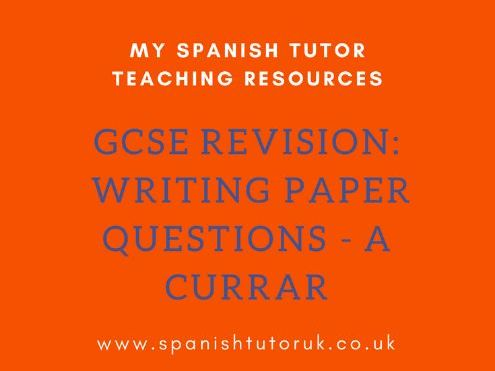 GCSE Writing Paper Questions Foundation - A Currar