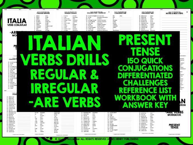Middle School Italian Resources Grammar