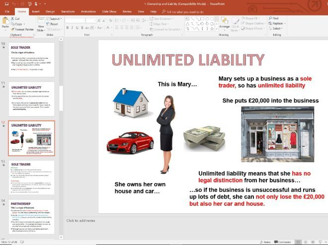 1. Ownership and Liability - Topic 1.4 - Edexcel GCSE Business - Theme 1