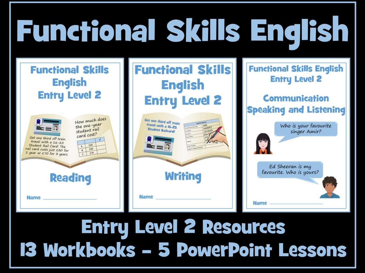English Functional Skills Entry Level 2 Bundle