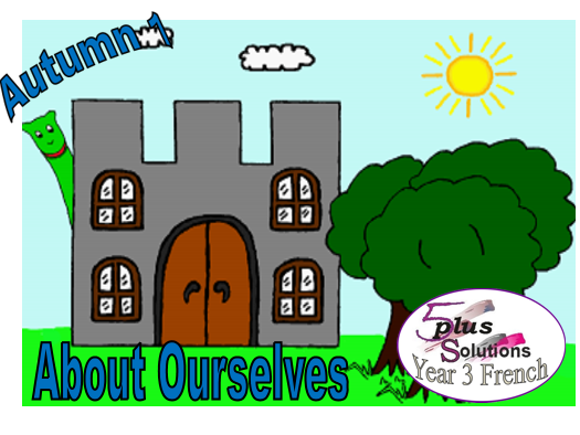 Primary French PUPIL WORKBOOK: Year 3 About Ourselves (7 b/w  worksheets in A3 & A4 format)