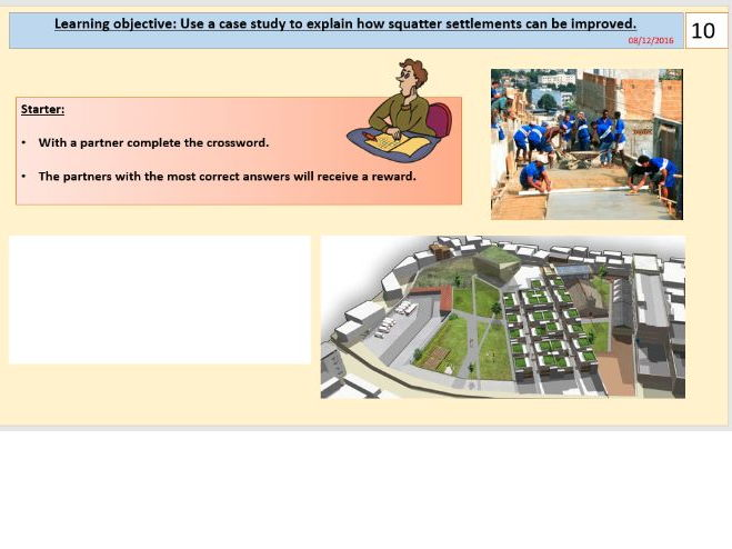 L8/9 - Squatter settlement improvements in Rio de Janeiro - (Urban World) - [AQA GCSE Geog new spec]