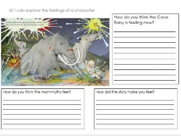 Cave Baby Reading activity