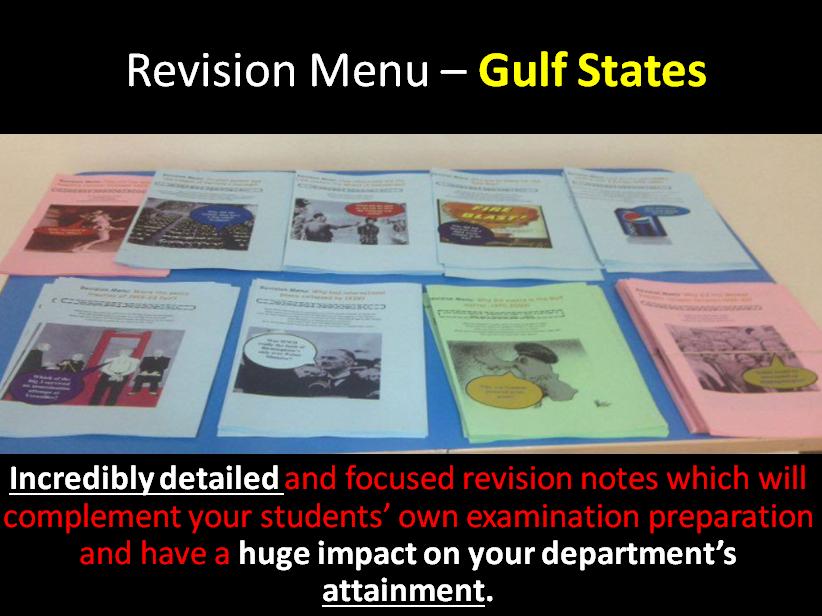 Revision Menu - Gulf States