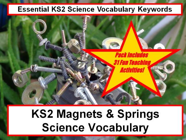 KS2  Magnets & springs Science Vocabulary + Fun Loop Cards Activity+31 More Teaching Activity Ideas