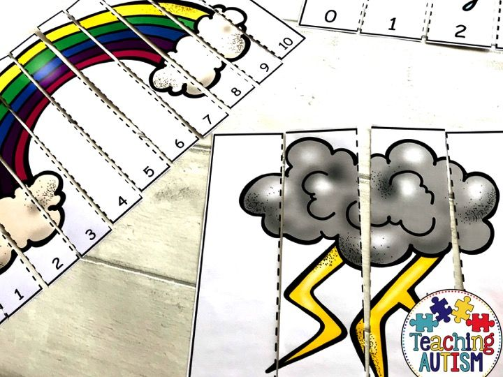 Weather Number Puzzles Counting to 10