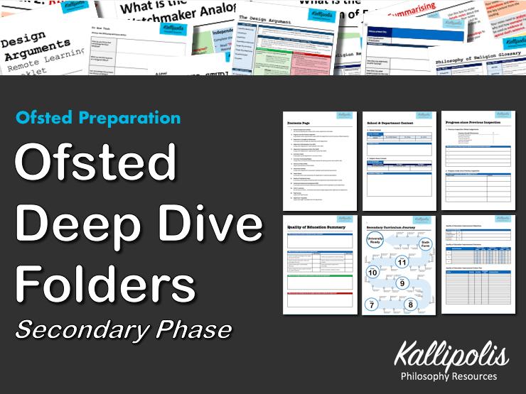 Ofsted Deep Dive Preparation / Folder (Secondary Phase)