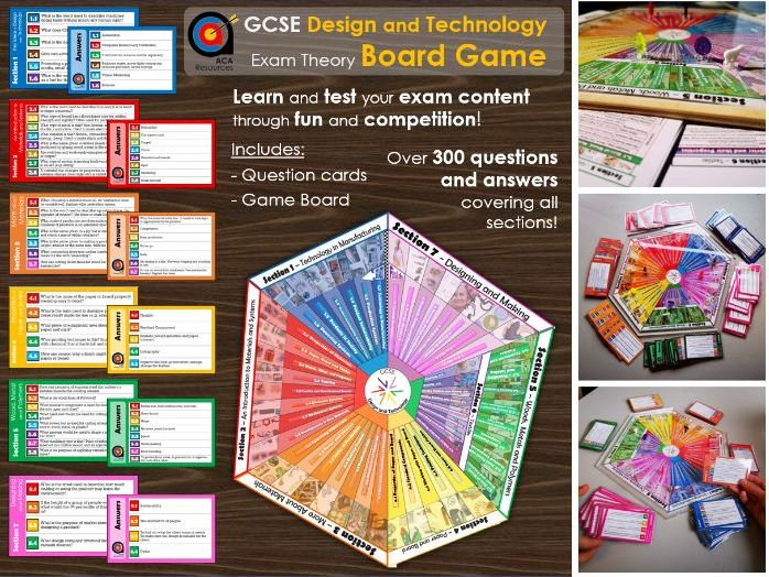 GCSE D&T - Exam Theory Board Game