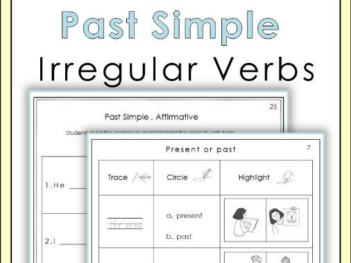 Past Simple Irregular Verbs Worksheets