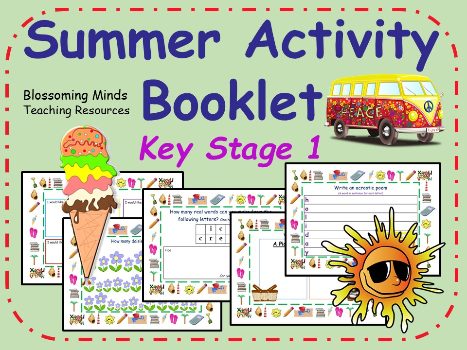 Key Stage 1 Summer Activity Booklet - 30 pages