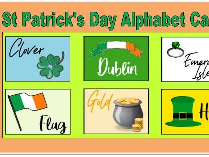 St Patrick's Day Alphabet Cards