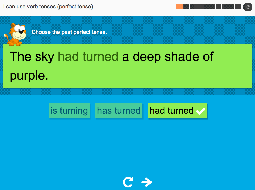 I can use verb tenses (perfect tense) - Interactive Activity - Year 3 Spag