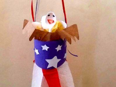 American Eagle Flag Windsock