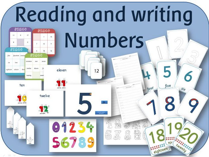 Year 1 Maths Reading and Writing numbers lesson, activity and display pack