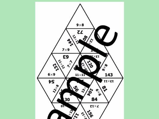 Multiplication Tables 2 - 13 - Math Puzzle