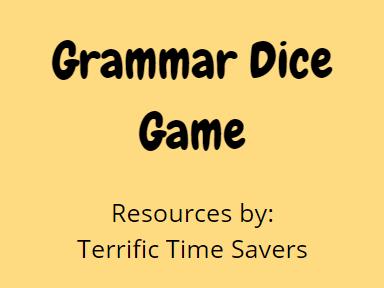 Grammar Dice Game