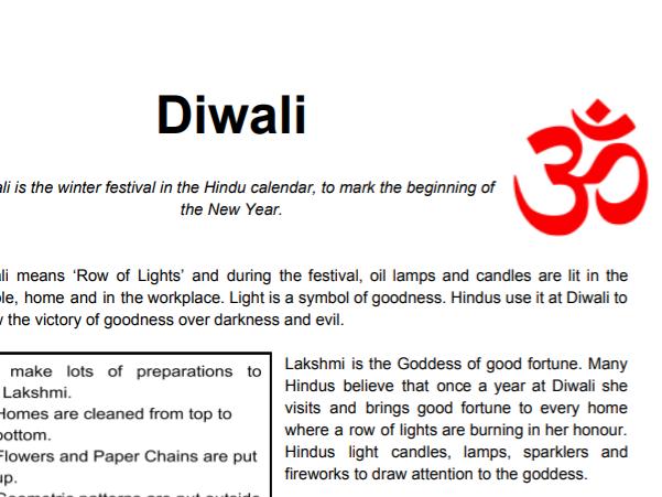 Free Diwali Worksheet