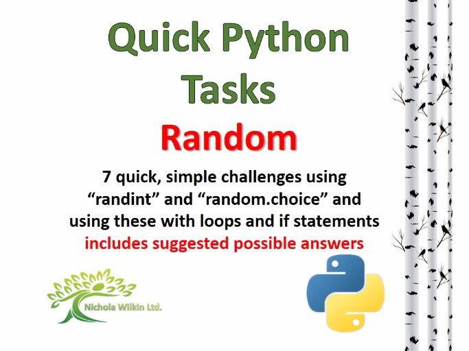 Random (Quick Python Programming Challenges)