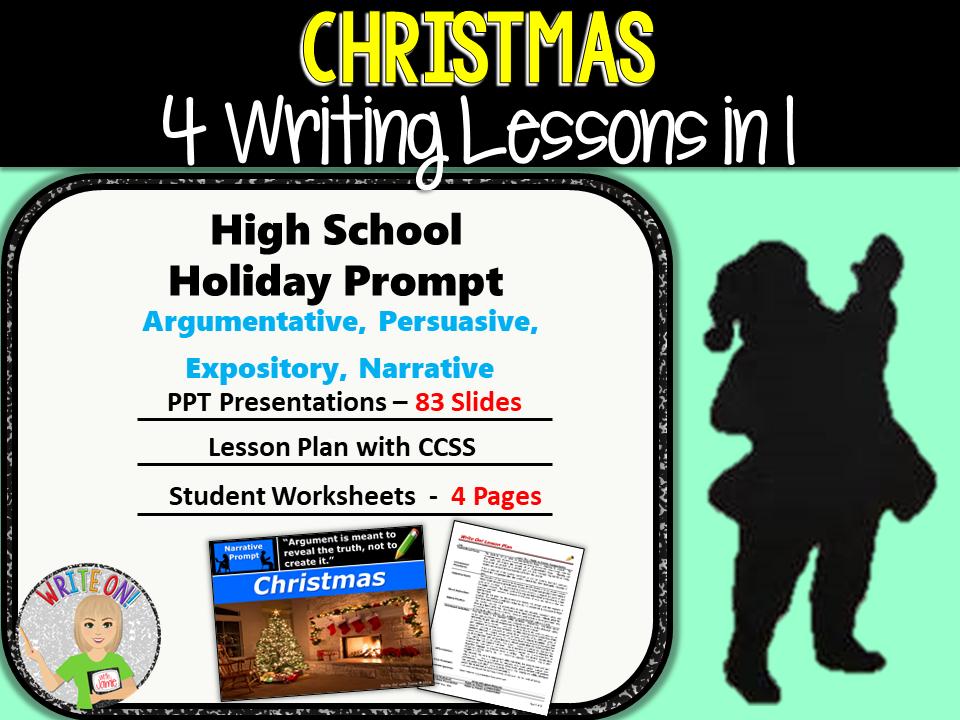 Christmas Writing BUNDLE! - Argumentative, Persuasive, Expository, Narrative