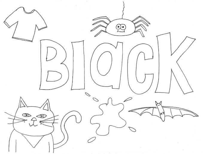 Black: Colours: Colouring Page