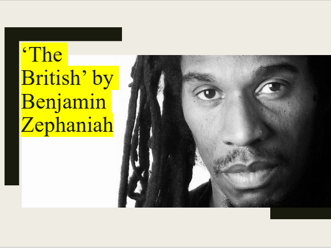 Poem Analysis - 'The British' by Benjamin Zephaniah