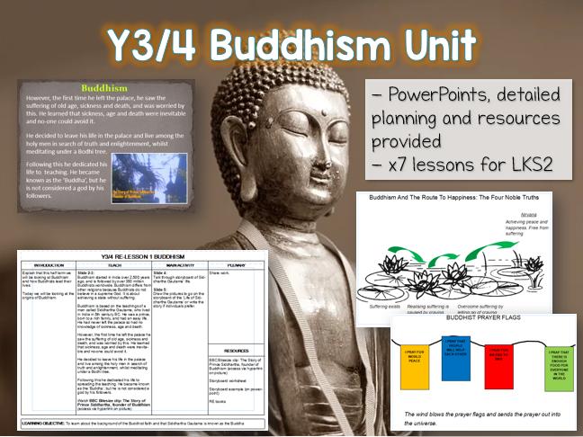 LKS2 Buddhism Unit - 7 lessons