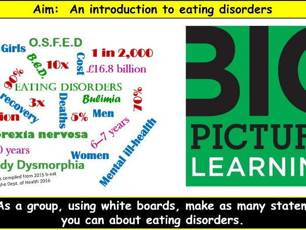 Eating disorders awareness workshop for whole school INSET or Sixth Form
