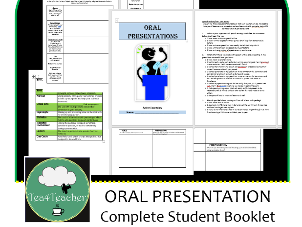 Oral Presentations Speech Full Booklet for Junior Secondary – Print and Hand Out