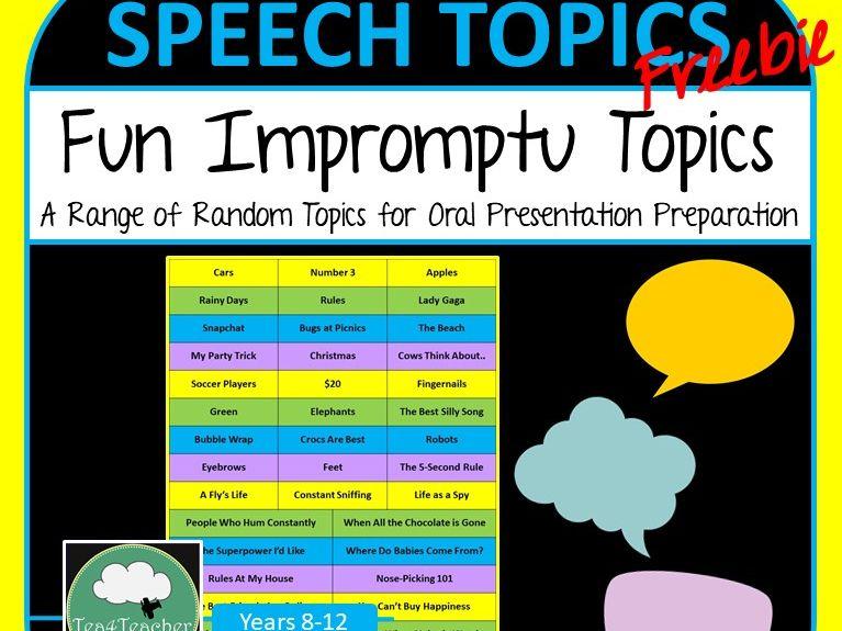 Impromptu Speech Topics Quick Ideas for Oral Skills