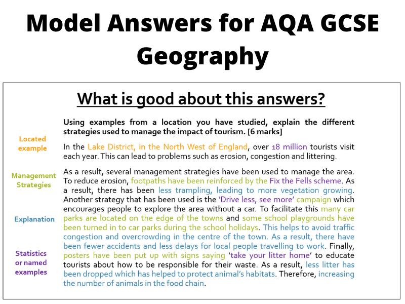 AQA Geography Model Answers Glaciation