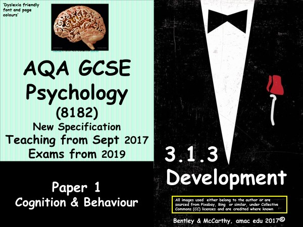 New Spec (2017) AQA GCSE Psychology (Paper 1) Development