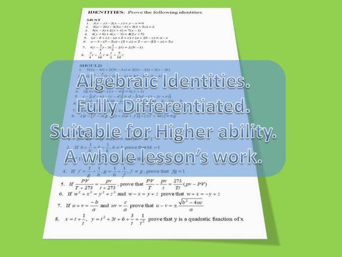 Algebraic Identities