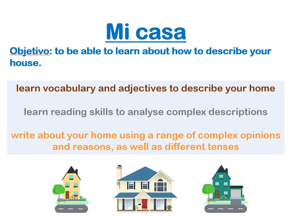GCSE Spanish - Mi casa lesson / My house