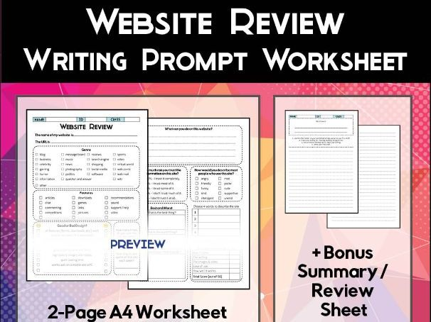 Website Review Worksheet