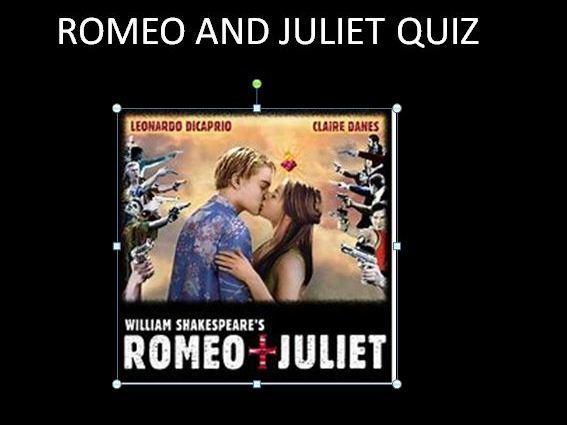Romeo and Juliet Quiz