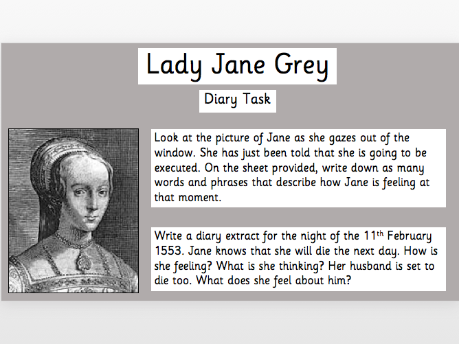 Lady Jane Grey Diary Task